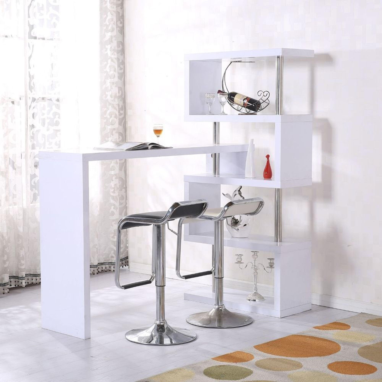 Homcom® Bartheke Hausbar Schreibtisch Bartisch Regal Raumteiler Tisch  Hochglanz