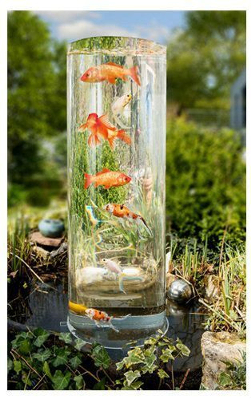 Mauk Goldfisch Koi Fischturm Fisch Aussichtsturm Fischsaule Teichsaule Teich 02