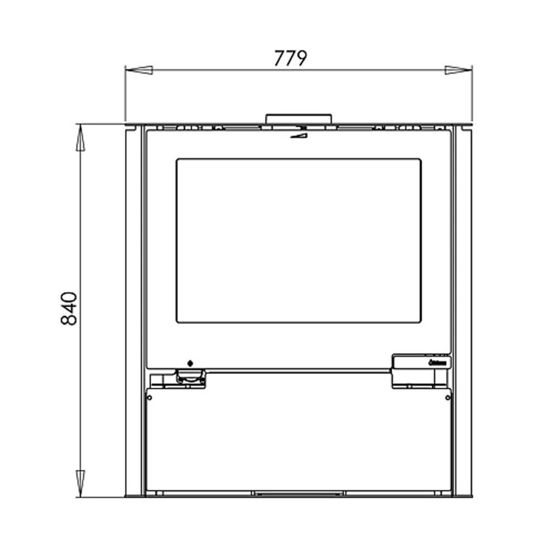 aduro 15 kaminofen 6 kw in schwarz mit aduro tronic gro er. Black Bedroom Furniture Sets. Home Design Ideas