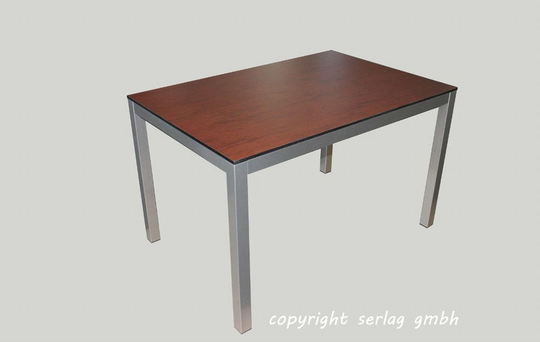 Esstisch Gartentisch Tisch 120x80 HPL Gastro wetterfest Werzalit ...