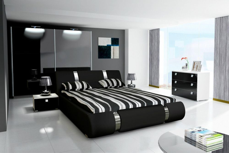 Schlafzimmer Komplett Novalis II Hochglanz schwarz