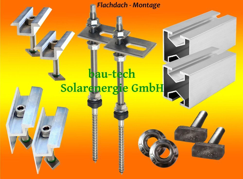 390 watt solaranlage photovoltaikanlage mit montagematerial f r flachdach kaufen bei. Black Bedroom Furniture Sets. Home Design Ideas