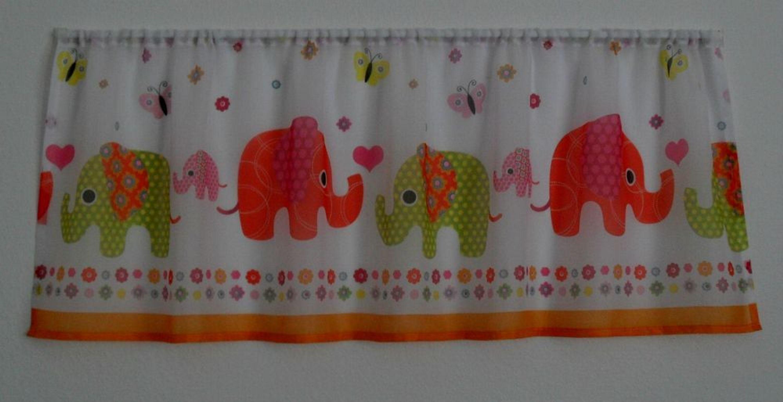motiv elefanten schlaufen scheibengardinen sowie mit tunnel kinderzimmer gardinen kaufen bei. Black Bedroom Furniture Sets. Home Design Ideas