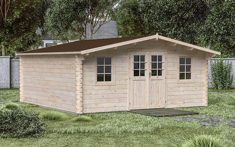 M M Holzhaus gartenhaus gera 8 500x500 cm 44 mm holzhaus holz gerätehaus schuppen