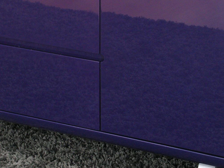 Sideboard spacy kommode anrichte schrank lila hochglanz - Sideboard lila ...