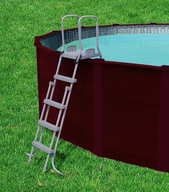Bestway royal frame pool 549 cm in holzoptik kaufen bei for Poolplane 549