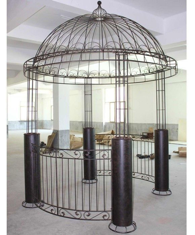 Nostalgie xxxl pavillon 3 8 meter schmiedeeisen vintage antik stil schwer 100 kg ebay - Prieel ijzer ...