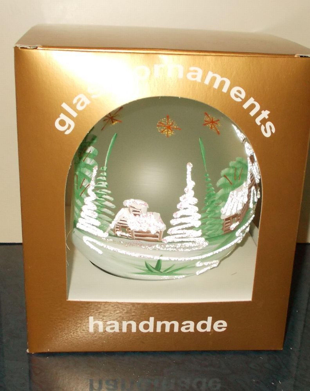 Winterzauber Teelichthalter Kerzenst Nder Glaskugel