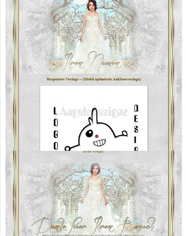 Auktionsvorlage Damen Hochzeit White Dream Mode Mobile Vorlage ...