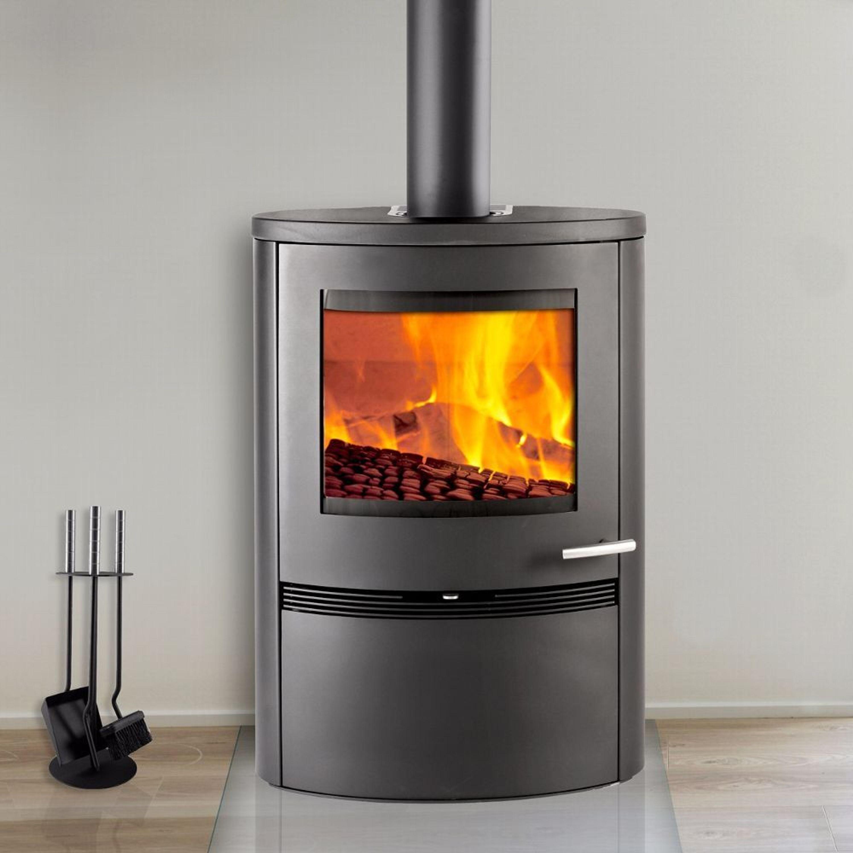 termatech tt22h kaminofen mit 7 kw in schwarz gro er brennraum kaufen bei. Black Bedroom Furniture Sets. Home Design Ideas