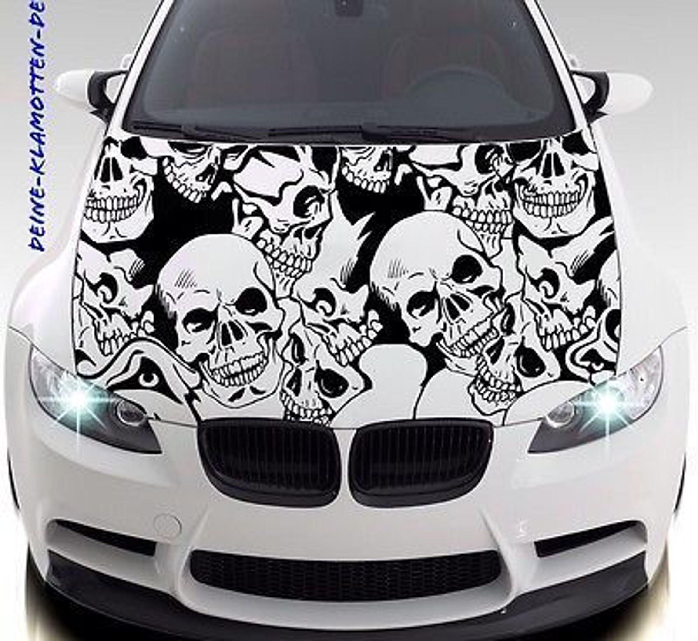 Totenkopf Skull Aufkleber Motorhaube Wand Autotattoo Sticker Skull Punk Fun