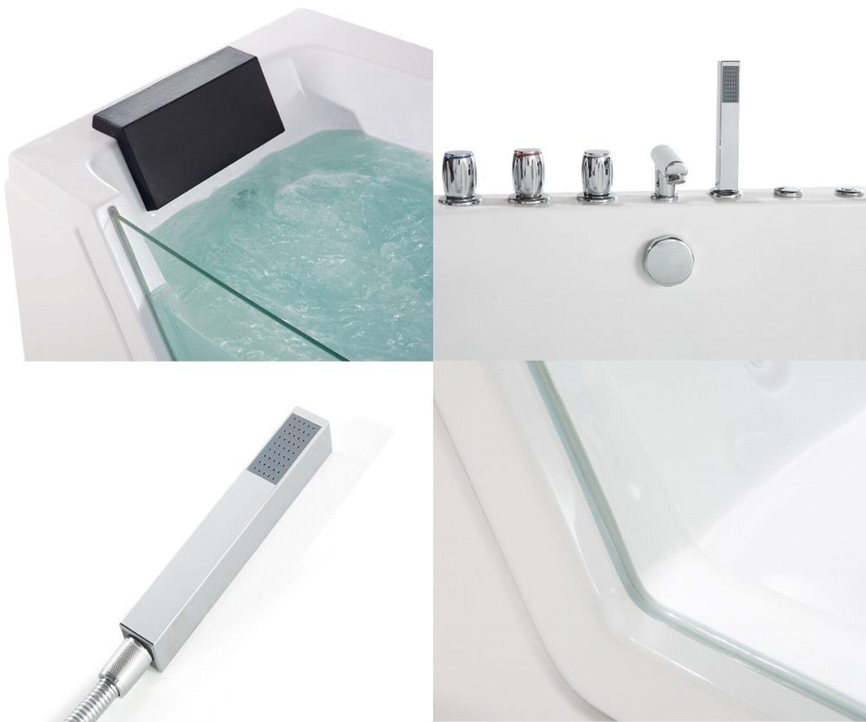 whirlpool badewanne mit 10 massage d sen led eckwanne luxus spa g nstig neu kaufen bei. Black Bedroom Furniture Sets. Home Design Ideas
