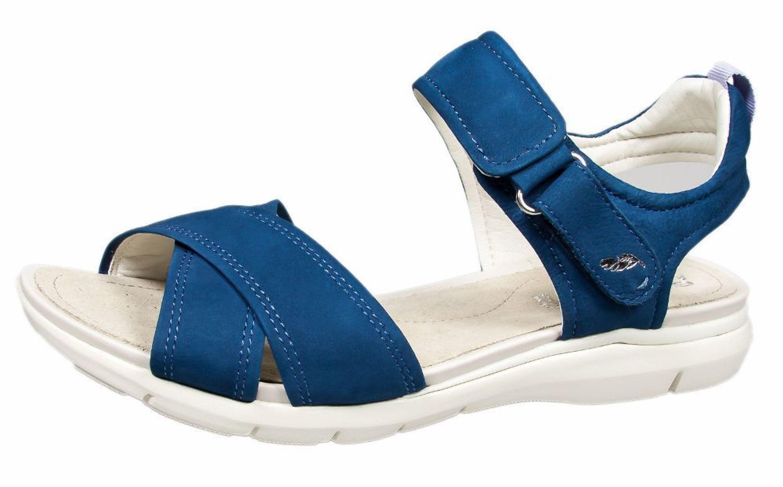 Sandaletten Blau Damen Sandalen Klett Geox U Sukie 42