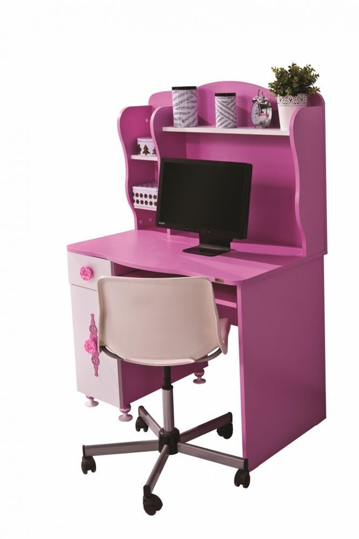 schreibtisch zuckerfee inkl aufsatz in rosa wei kaufen. Black Bedroom Furniture Sets. Home Design Ideas