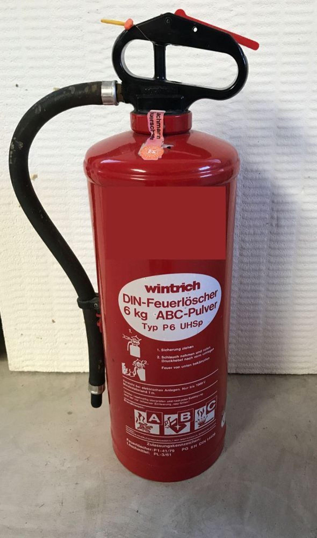Feuerlöscher 6kg Abc Pulver Auflade Gebraucht Auf Wunsch Mit Neuer Prüfung