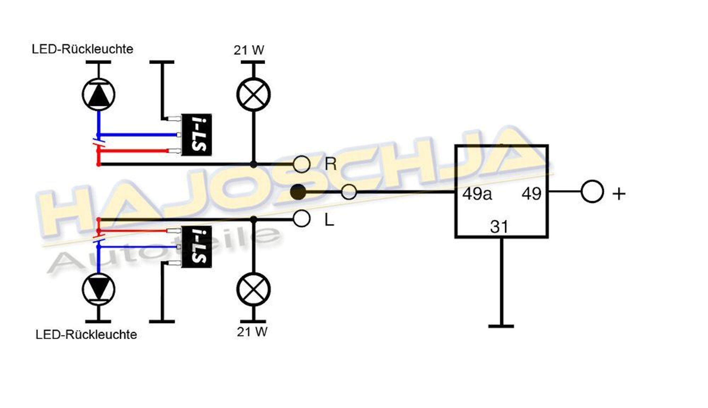 blinkrelais blinker relais f r led blinker m. Black Bedroom Furniture Sets. Home Design Ideas