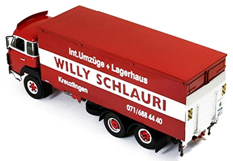 saurer d290 willy schlauri kreuzlingen 1978 rot red 1 43. Black Bedroom Furniture Sets. Home Design Ideas