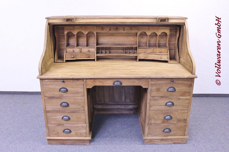 teak american rolltop sekret r teakholz antik. Black Bedroom Furniture Sets. Home Design Ideas