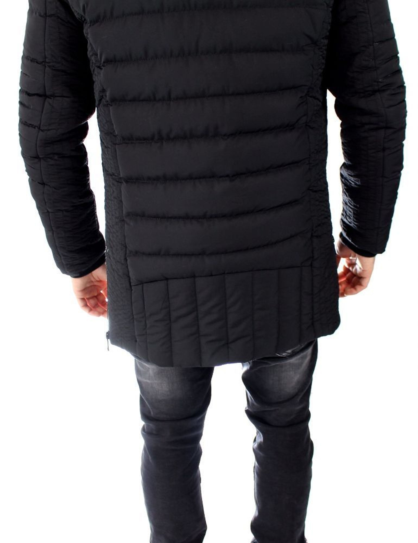 herren mantel kapuzenjacke lang schwarz winterjacke alaska. Black Bedroom Furniture Sets. Home Design Ideas