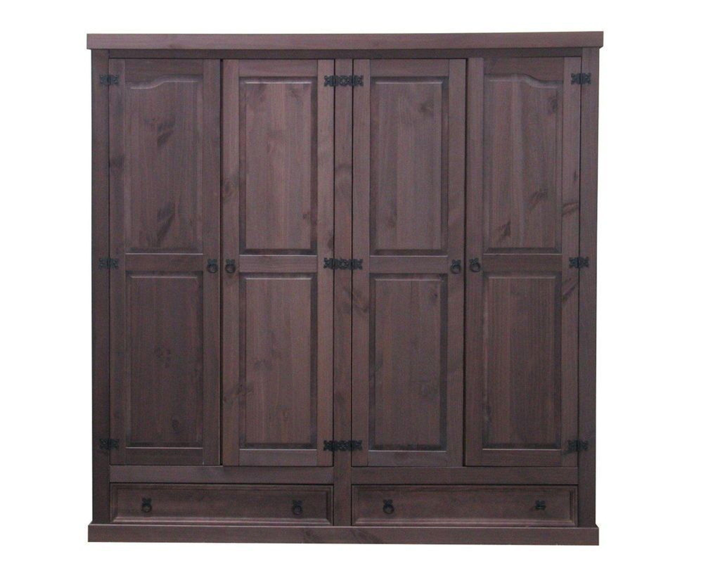 kleiderschrank schlafzimmer schrank 4trg massiv kiefer. Black Bedroom Furniture Sets. Home Design Ideas