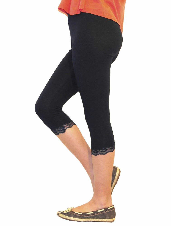 d09aa840a6921d Mädchen Kinder Leggings Leggins Hose Capri 3/4 kurz mit Spitze Baumwolle  116-146 kaufen bei Hood.de - Material Baumwolle