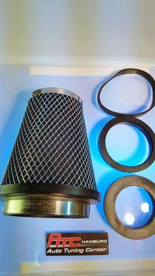 Sportluftfilter offener Luftfilter Pilz Universal Chrom für Citroen Xantia