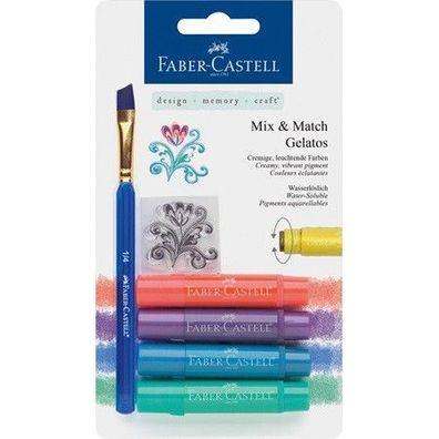 """Faber Castell Mix /& Match Gelatos wasservermalbare Kreiden  /""""Brights/"""""""