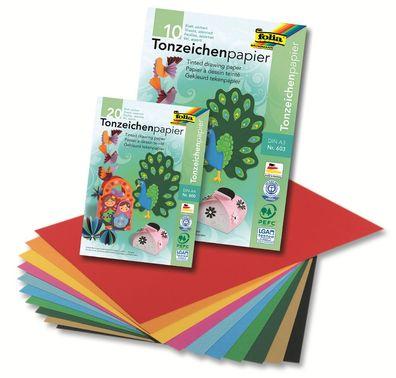 130 g//qm 100 Blatt Folia Tonpapier DIN A4 59 Farben zur Auswahl
