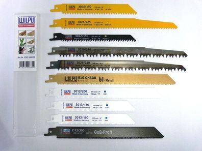 2 Säbelsägeblätter 225//300//450mm Wellenschliff Leder usw Gummi für Dämmstoff