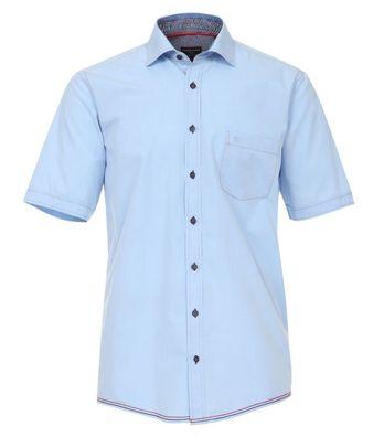 Seidensticker Herren Hemd 12 Arm Craig Kragen Schwarze Rose Slim Fit hellblau