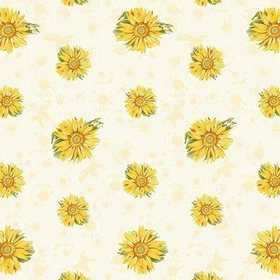 Ambiente Servietten ROSALIE TAUPE Kleine Rote Rosen Blüten 20 Stk 3-lagig 33x33