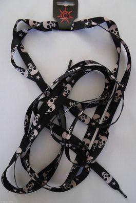 1 Paar Schnürsenkel,Shoelaces Rockabilly,Ska oversize 172x1,1 cm 8 Ball Billard
