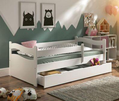 Kinderbett Jugendbett Kinderzimmer ABBY + Schublade + Lattenrost + Matratze  Holz
