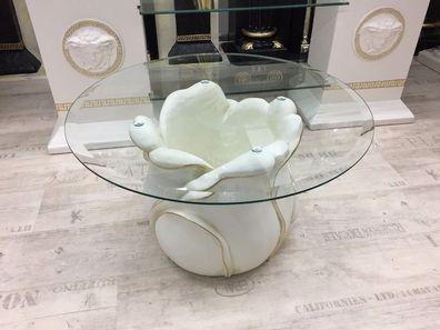 Medusa Blumen Couchtisch Glastisch griechische Tische Wohnzimmertisch 6021 K108