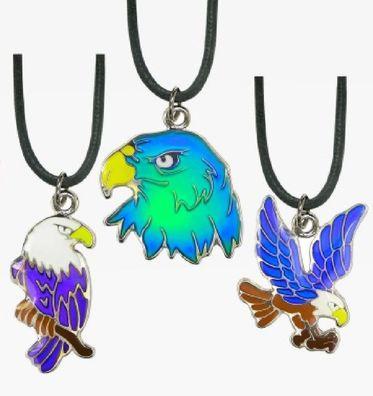 1 Stimmungskette Adler Kette Anhänger Modeschmuck Ketten Geschenke Schmuck Vogel Tier