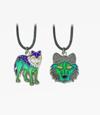1 Stimmungskette Wolf Kette Anhänger Modeschmuck Ketten Geschenke Schmuck Wölfe Tier
