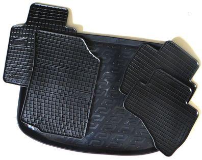 Gummifußmatten Kofferraumwanne Fussmatten Set  Audi Q5  8R   von TN  2008-2017
