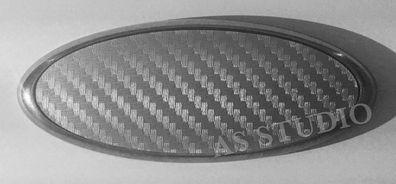100x38mm 2x 115x45mm Emblem Pflaume Folie B/öser Blick
