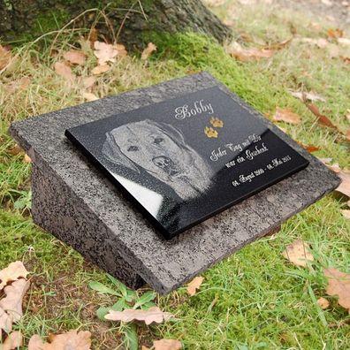 Grabstein Grabplatte Gedenkstein Grabschmuck 40x30 Granit