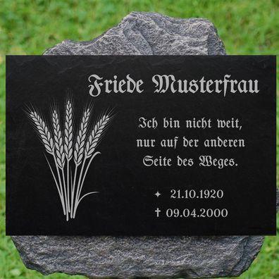 Gravur Engel Auswahl Grabstein Grabplatte Grabmal Grabschmuck 20x15 cm Wunsch