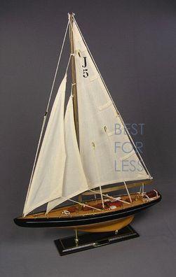 Schiffsmodell Segelyacht Yacht Modell Schiff maritim Deko 44 cm Segler NEU