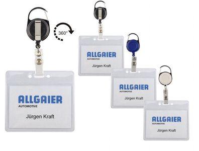 Kartenhalter für 2 Karten m Ausweisjojo Skipasshalter drehbar JOJO Kartenhalter