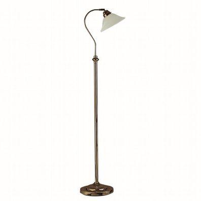 Stehlampe Ø23cm E27 in Messing Stehleuchte Schalter Lampe Stand Klassisch Glas