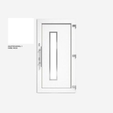 Glas:2-Fach Kunststofffenster Badfenster Ornament Streifen Weiss Dreh//Kipp Anschlag:DIN Links BxH:500x400