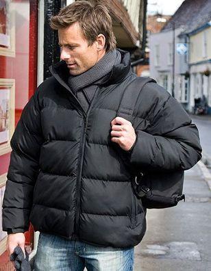 Result WINTER JACKE Steppjacke HERREN warm KAPUZE MEN R222X NEU