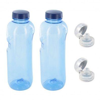 9er Set Lebensblume Ersatz Schraub Deckel für Wasser Trinkflaschen aus Tritan