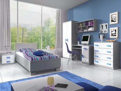 Jugendzimmer Calbe II Möbel Bett Regal Modern Design Set Kinderzimmer  Komplett
