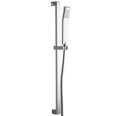 Brausestange Duschstange 75,5 cm eckig mit Schieber chrom glänzend Design