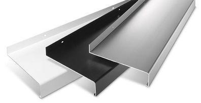 Fensterbank Gleitabschluss Design Ausladung 50-400 mm WEISS ANTHRAZIT SILBER