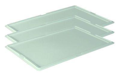 2 Stück Deckel für Pizzaballenbox Teigbehälter stapelbar 60 x 40 cm Gastlando